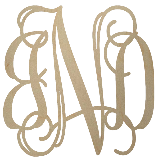 Wooden Monogram