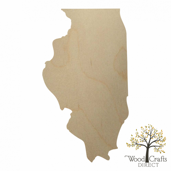 Wooden Illinois Cutout