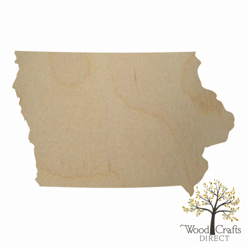 Wooden Iowa Cutout