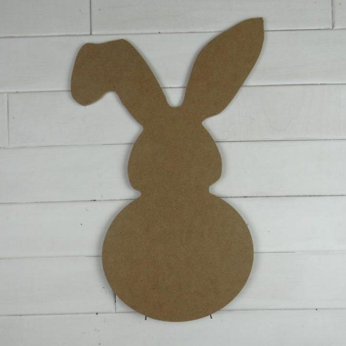 Bulk Wooden Bunny w Flop Ear Cutouts